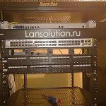 Большой серверный шкаф с оптикой