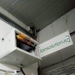 Серверный шкаф видеонаблюдения в тех. помещении склада